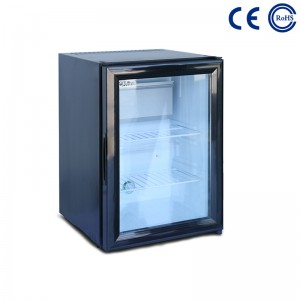 Low price for Glass/Solid Door Hotel Mini Bar Fridge -
