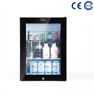 OEM Manufacturer Absorption Mini Bar With Glass Door For Hotel Mini Fridge -