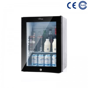 Bottom price Hotel Use Transparent Door Portable Minibar Display Fridge -