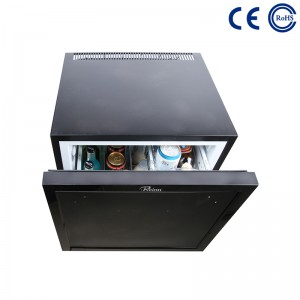 China Hotel Guestroom Eco-Friendly Minibar Fridge Thermoelectric Drawer M-45B factory and suppliers | Mdesafe