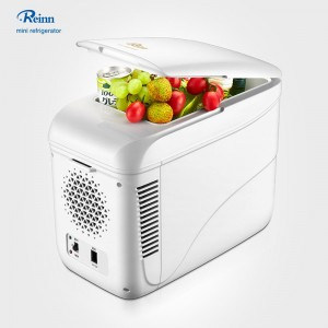 9L Mini Fridge Alang sa Skincare White Portable Compact Fridge
