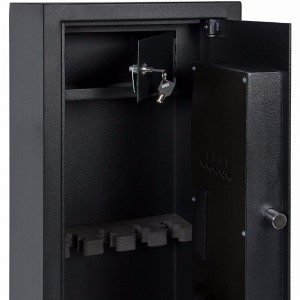 Partition Electronic Gun Safe Cabinet Rifle Security Safe